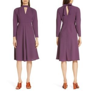 Lewit Crepe Dress 8 Purple
